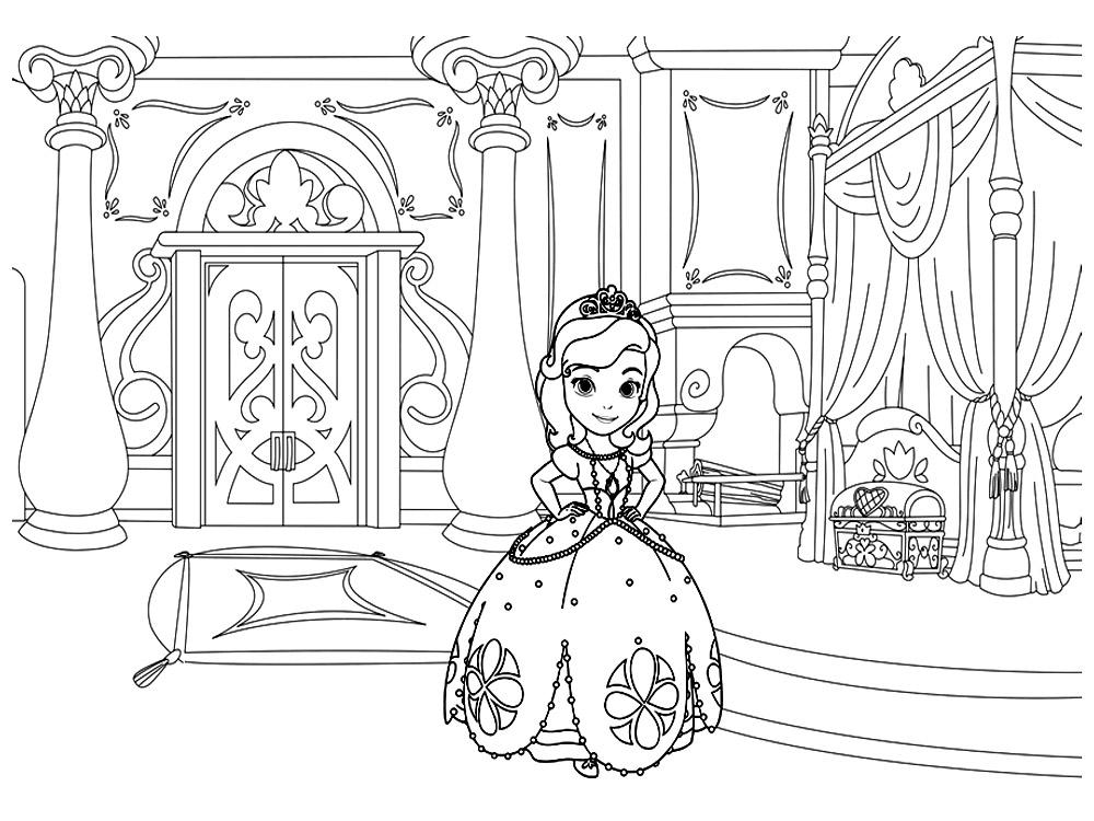 Gratuitos dibujos para colorear – la Princesa Sofía, descargar e ...