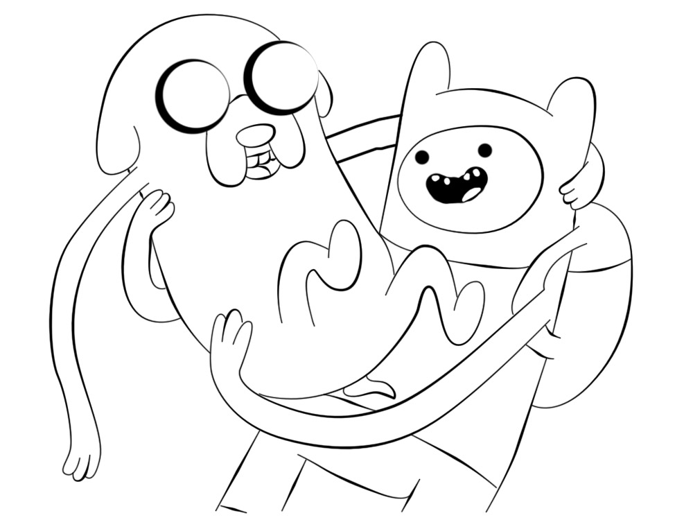 Dibujos para colorear - Hora de aventuras.