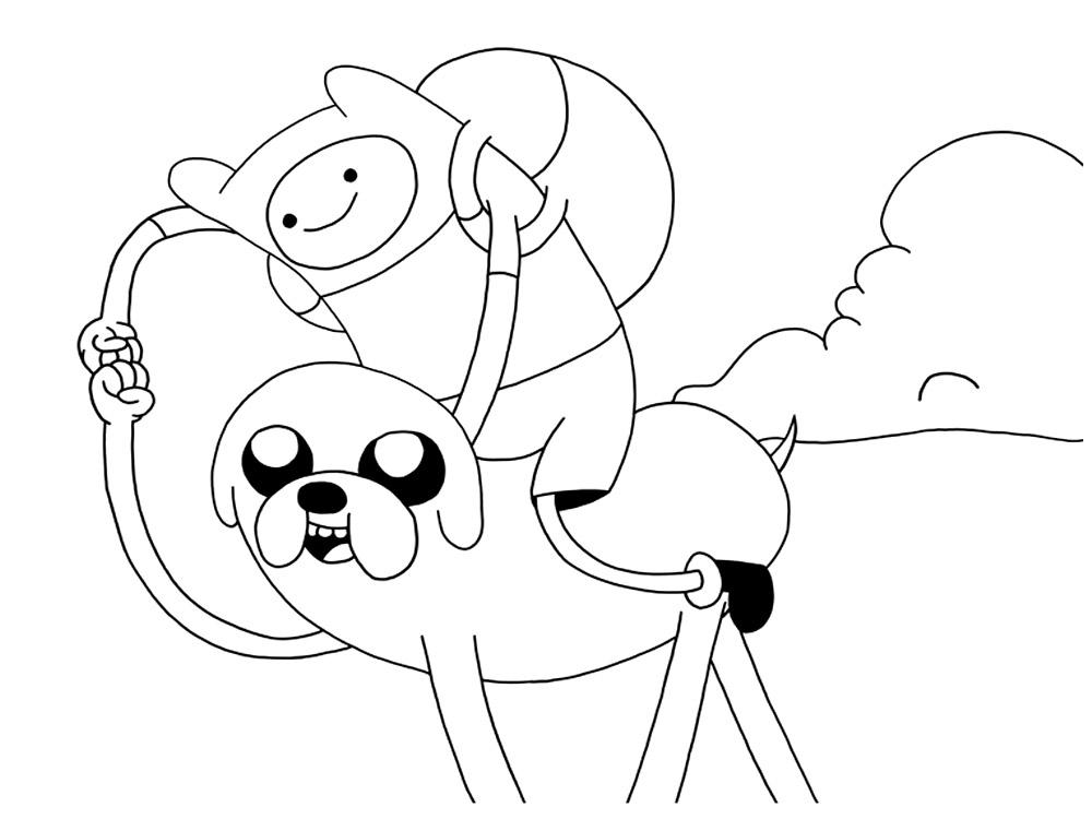 Hora de aventuras – dibujos infantiles para colorear