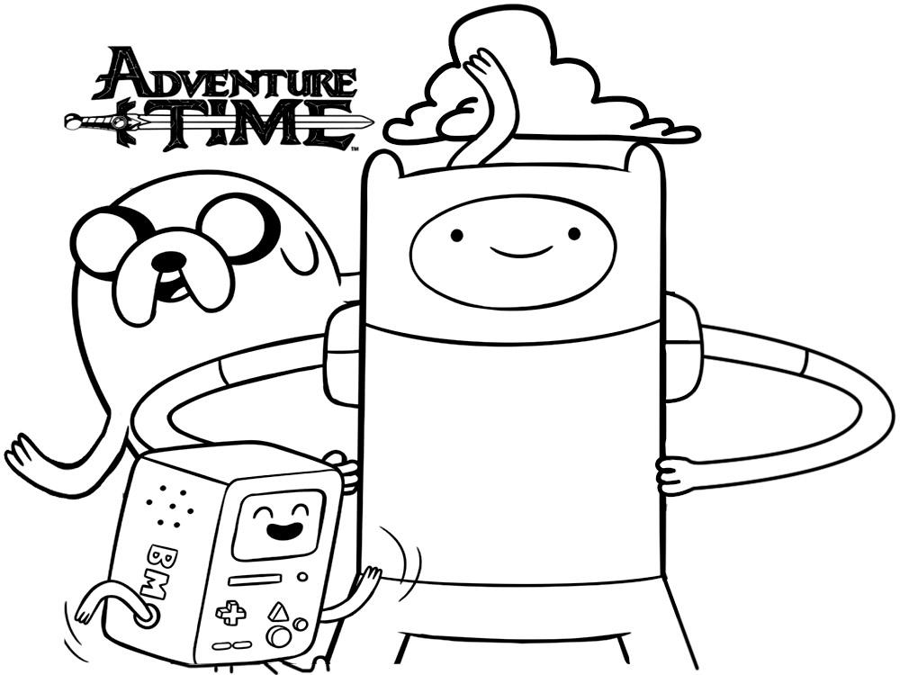 Descargue e imprima gratis dibujos para colorear – Hora de aventuras