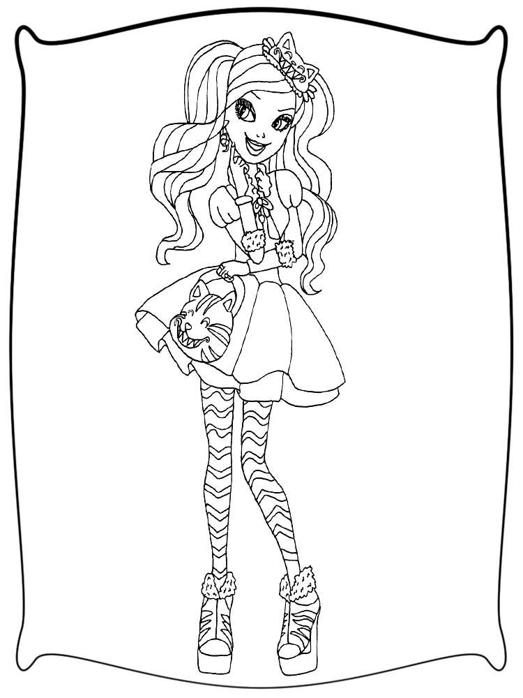 Descargamos dibujos para colorear - Ever After High