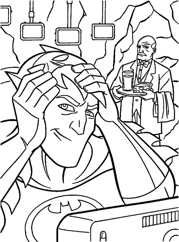Imprimir imágenes dibujos para colorear – Batman, para niños y niñas