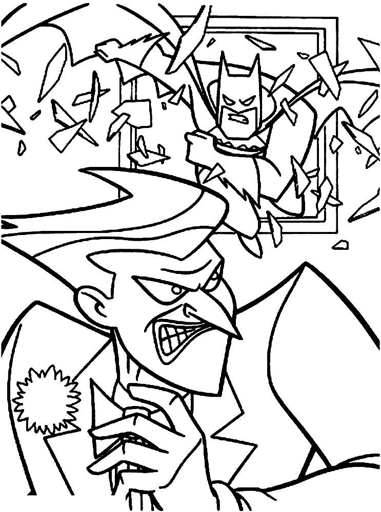 Batman – descargar gratis dibujos para colorear.