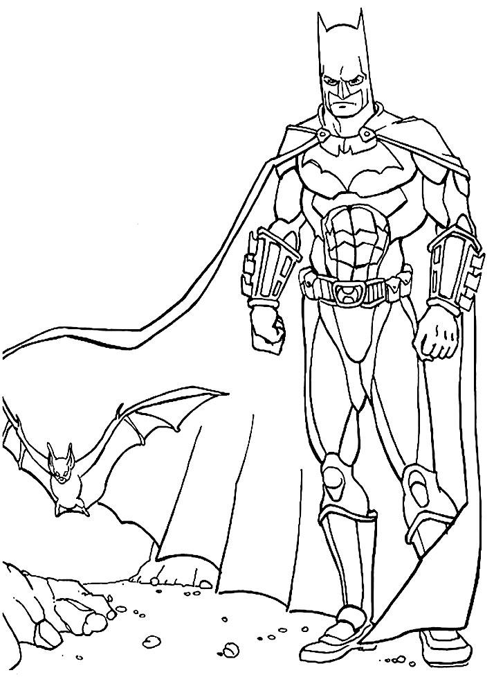 Dibujos para colorear – Batman, para niñas y niños