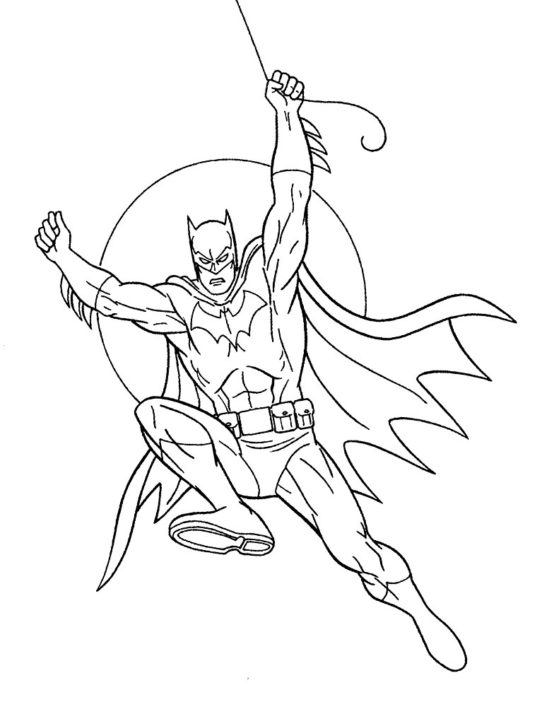 Dibujos Para Colorear Batman Para Un Desarrollo Infantil
