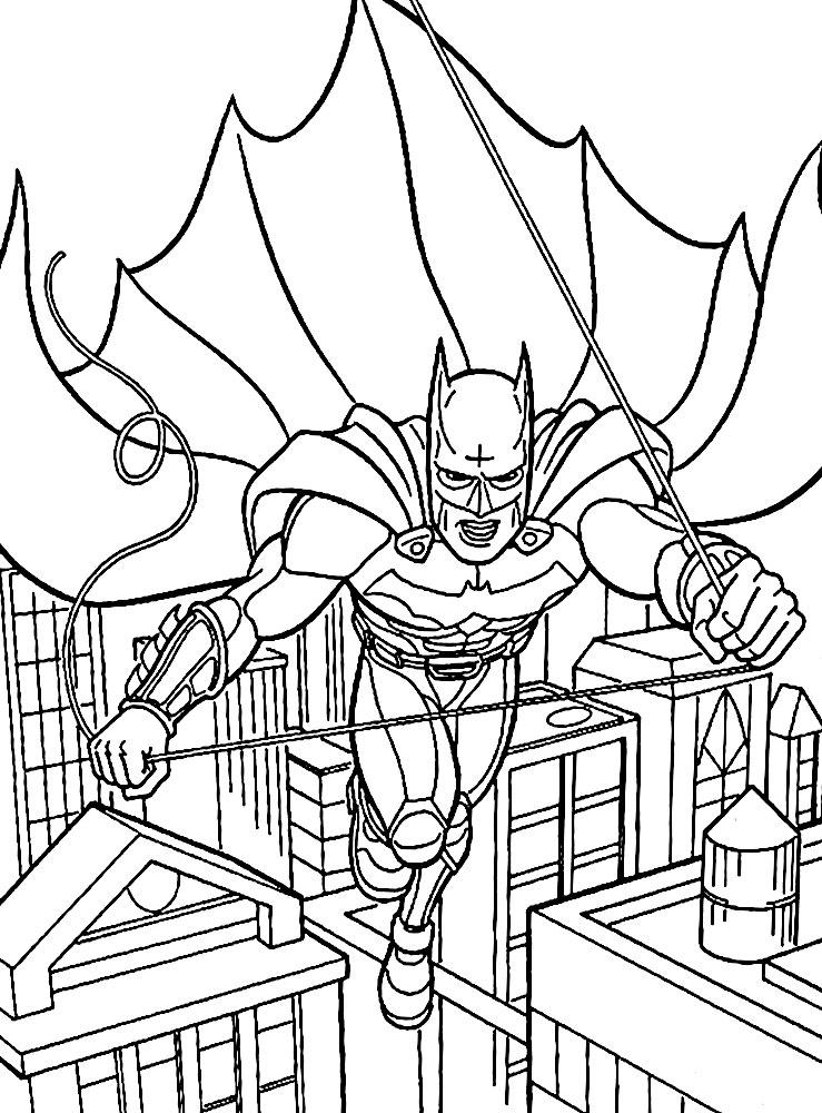 Dibujos animados para colorear – Batman, para niños pequeños.