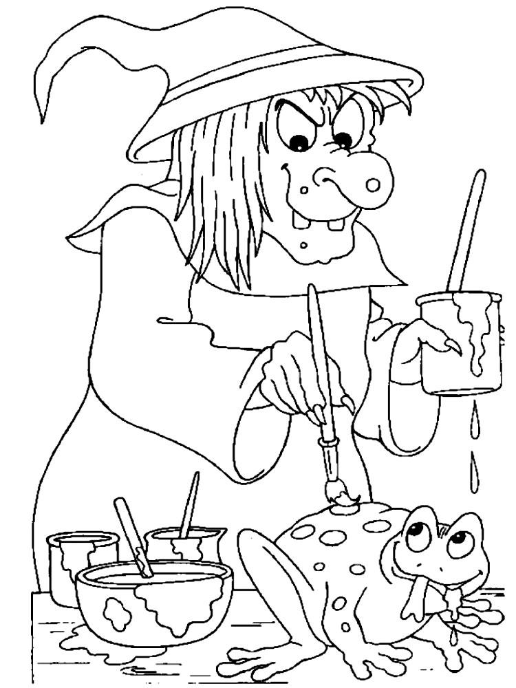 Descargue e imprima gratis dibujos para colorear – bruja