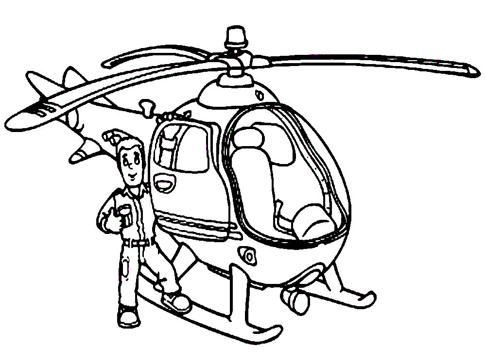 Helicoptero – descargar gratis dibujos para colorear.