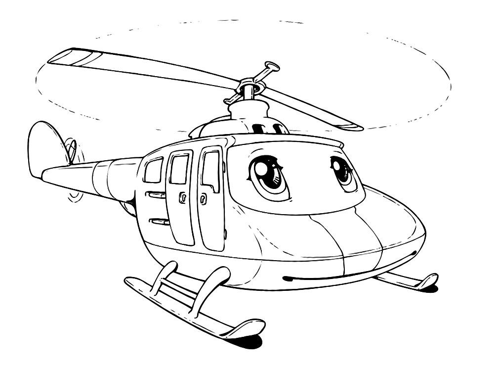 Algo útil para niñas y niños – dibujos para colorear – helicoptero
