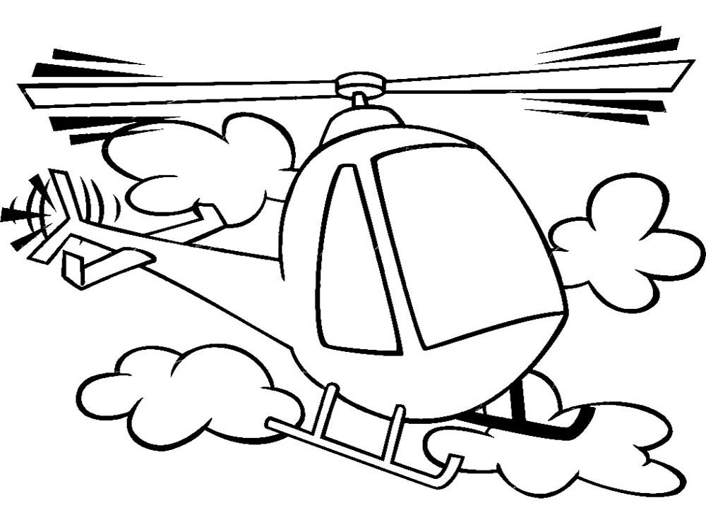 Dibujos para colorear – helicoptero, para desarrollar la generación ...