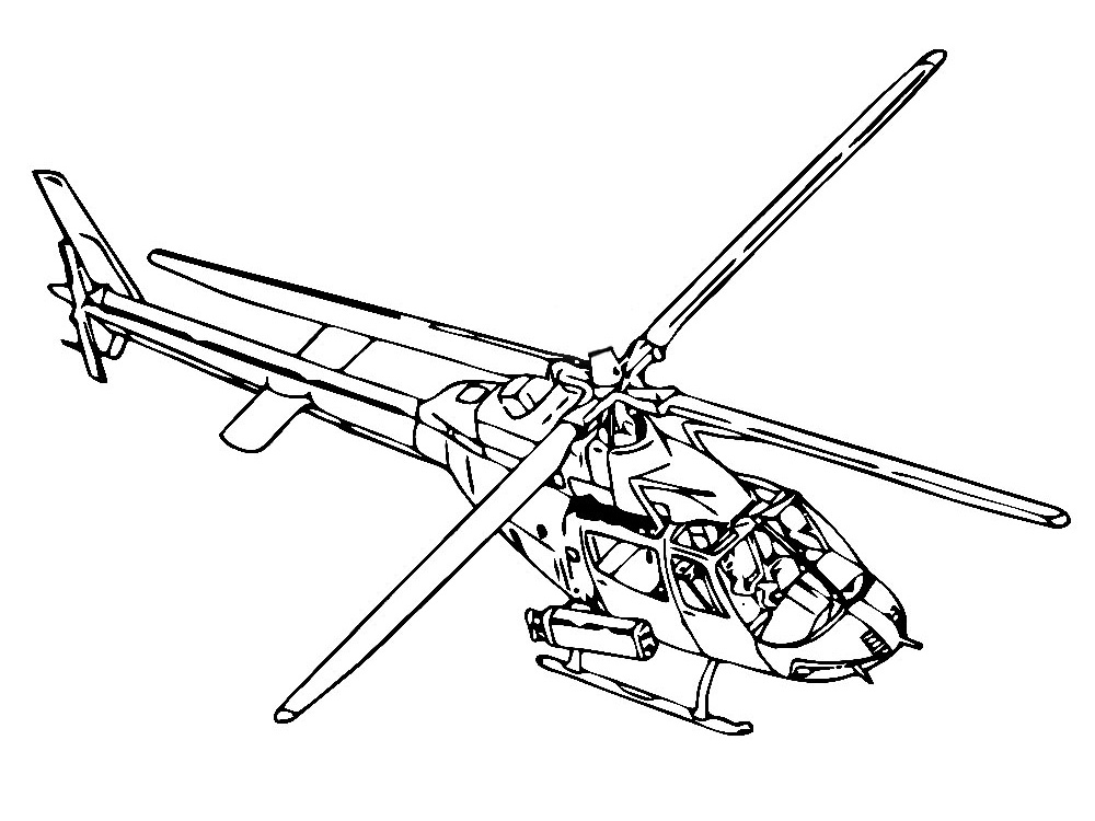 Imprimir Dibujos Para Colorear Helicoptero Para Ninos Y