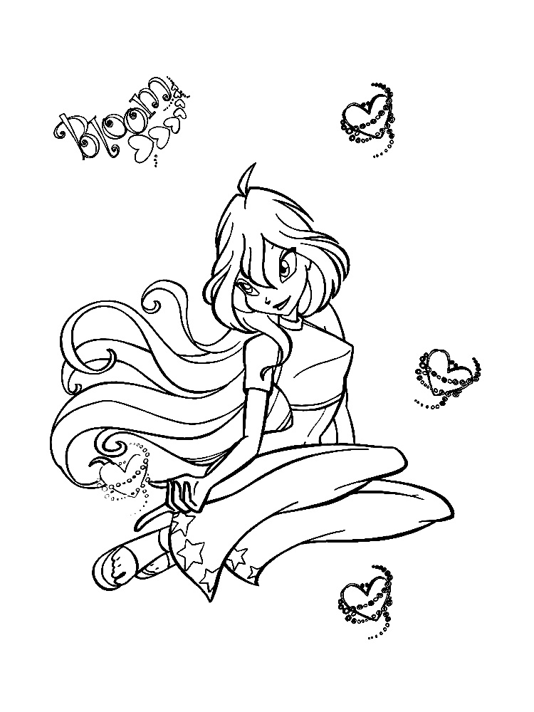Dibujos Infantiles Para Colorear Winx Bloom Para