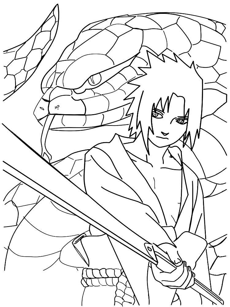 Imprimir imágenes dibujos para colorear – Sasuke Uchiha, para niños ...