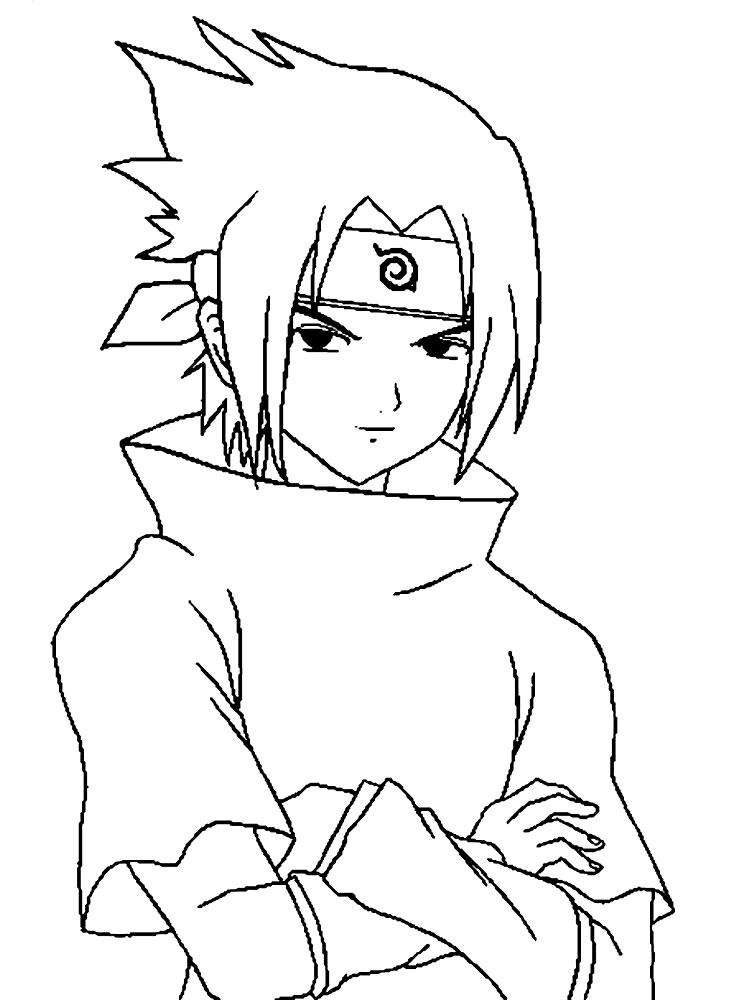 Dibujos para colorear  Sasuke Uchiha para desarrollar la