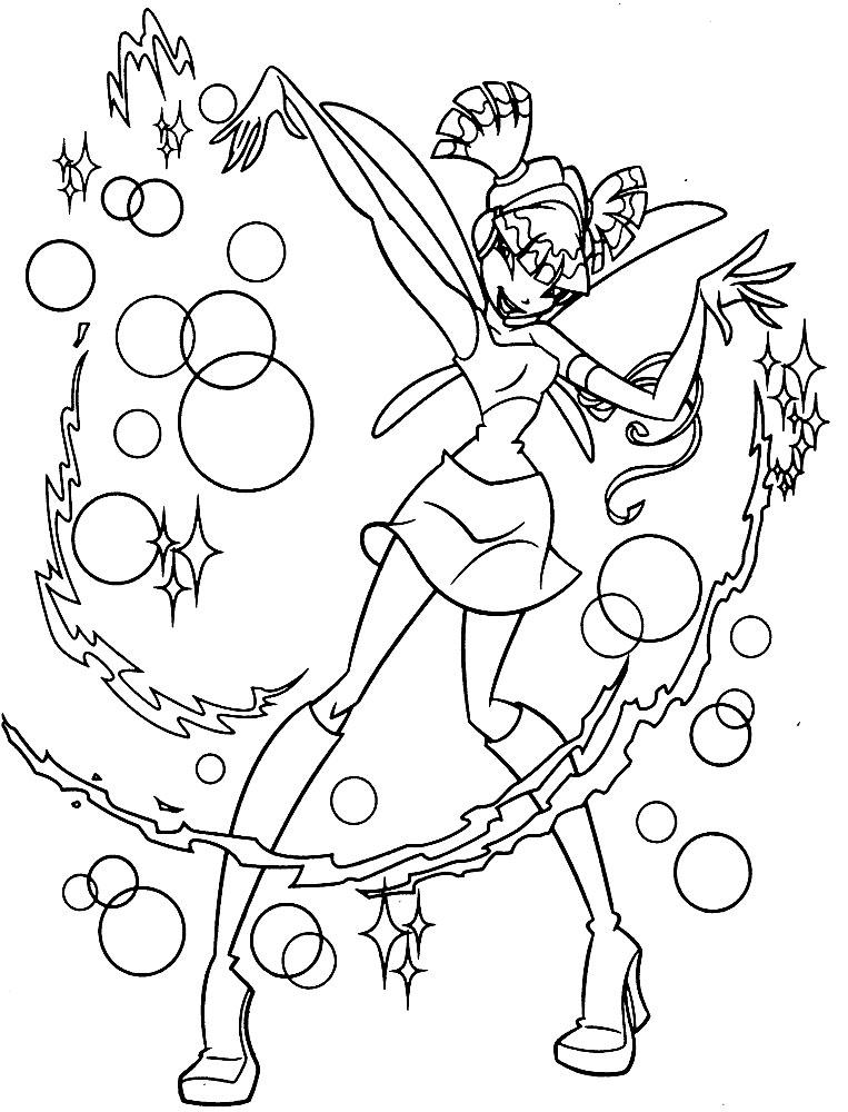 Imprimir imgenes dibujos para colorear  Winx Club para nios y