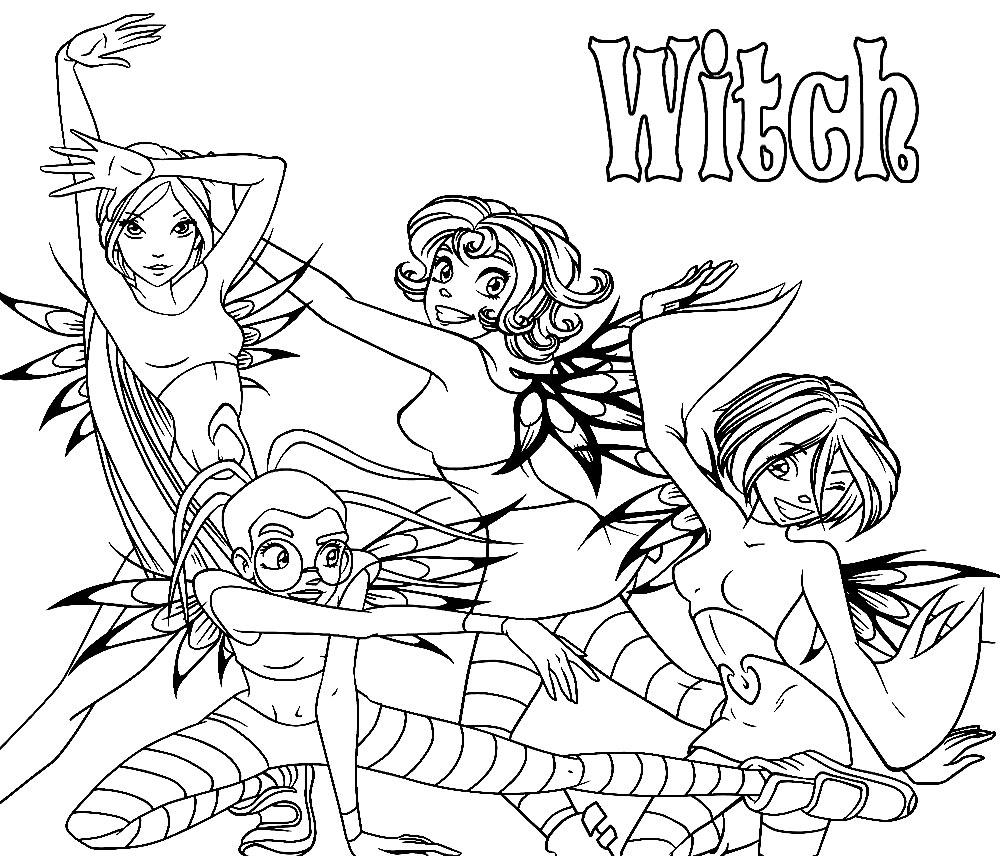 Algo útil para niñas y niños – dibujos para colorear – W.I.T.C.H.