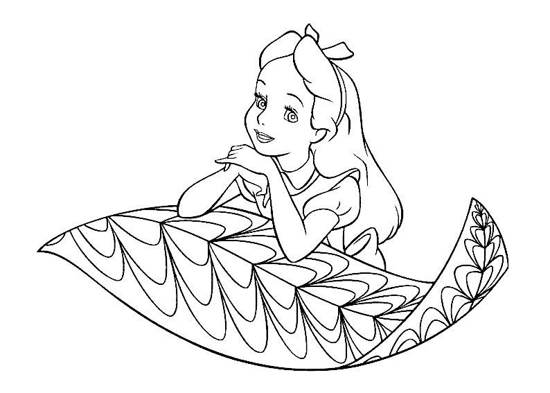 Imprimir gratis dibujos para colorear – Las aventuras de Alicia en ...