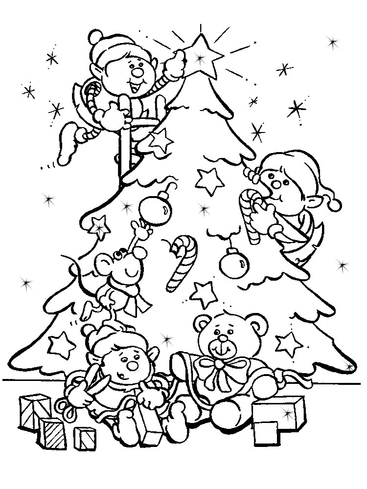 Arbol de Navidad – dibujos infantiles para colorear