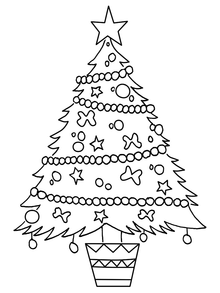 Arbol de navidad para colorear the for Dibujo arbol navidad
