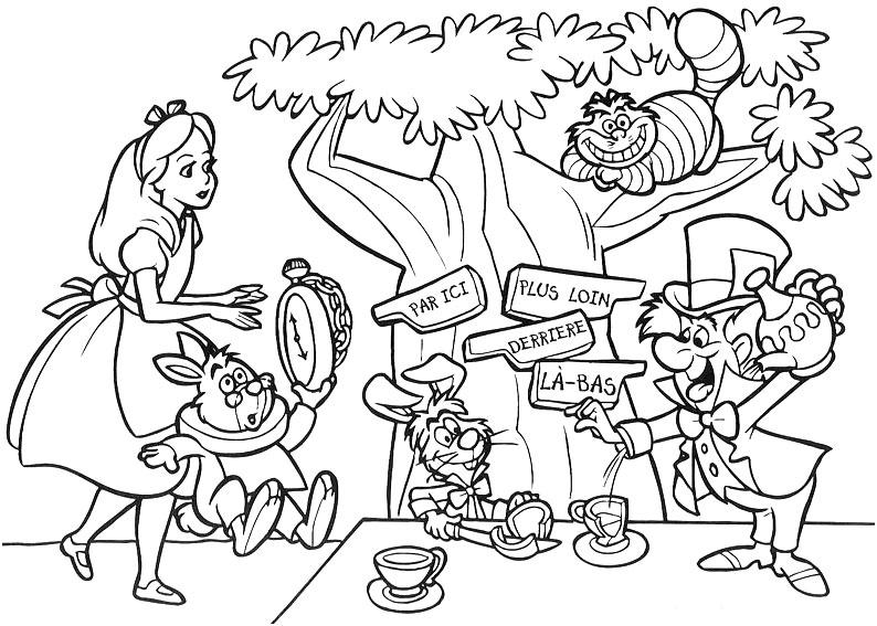 Dibujos infantiles para colorear – Las aventuras de Alicia en el ...