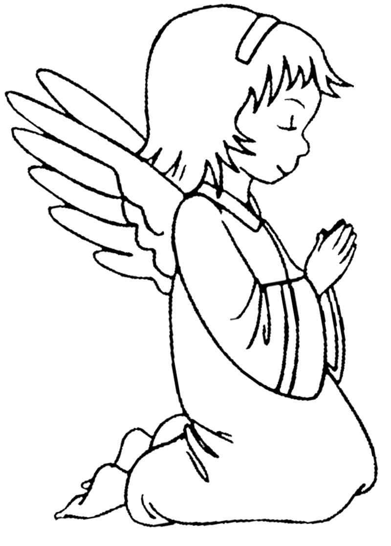 Descargar gratis dibujos para colorear – angels.