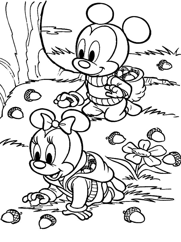 Dibujos para colorear - Los personajes de Disney.