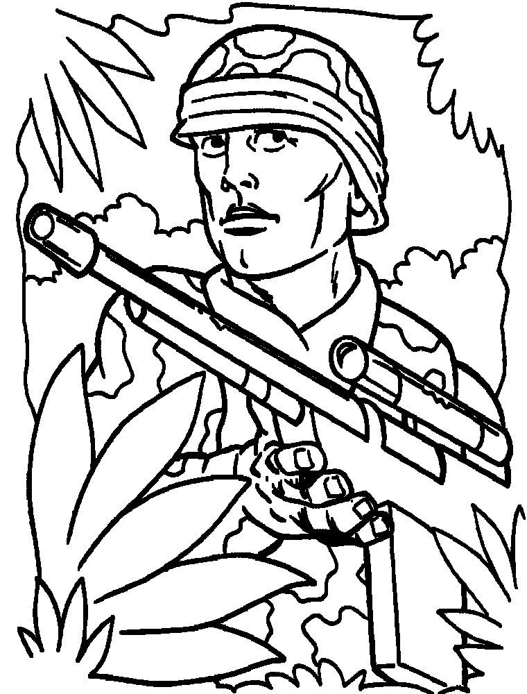 Dibujos para colorear – militar, para niñas y niños