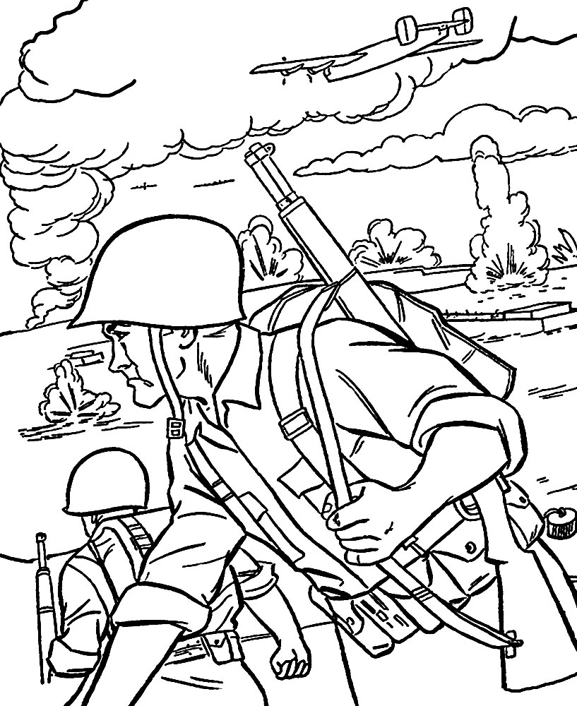 Militar – descargar gratis dibujos para colorear.