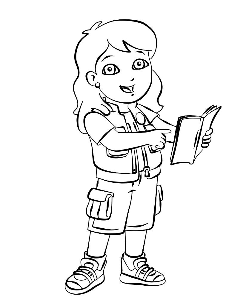 Go Diego – descargar gratis dibujos para colorear.