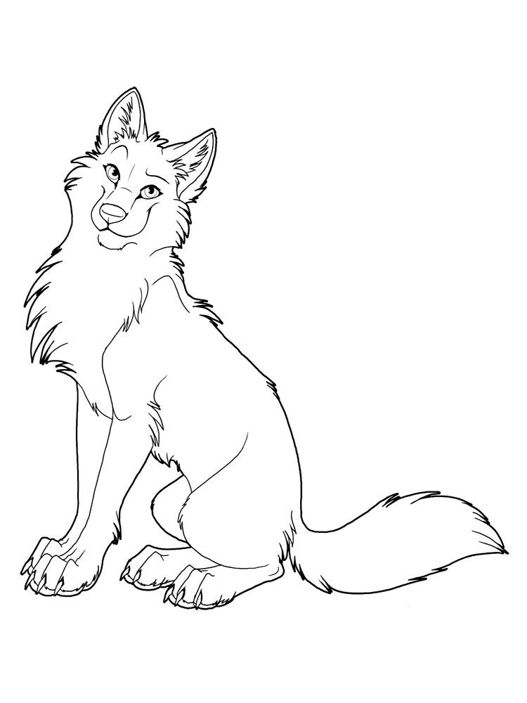 Dibujos para colorear – lobos, para un desarrollo infantil, en conjunto.
