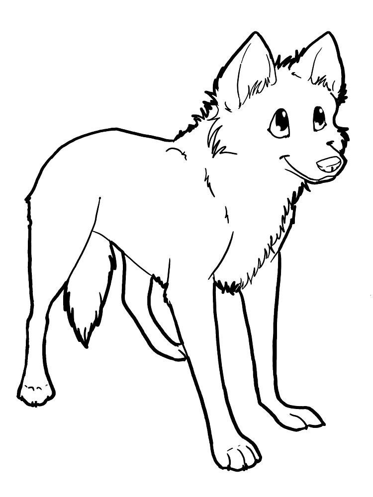 Descargue E Imprima Gratis Dibujos Para Colorear Lobos