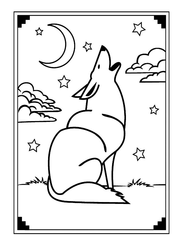 Imprimir dibujos para colorear – lobos, para niños y niñas