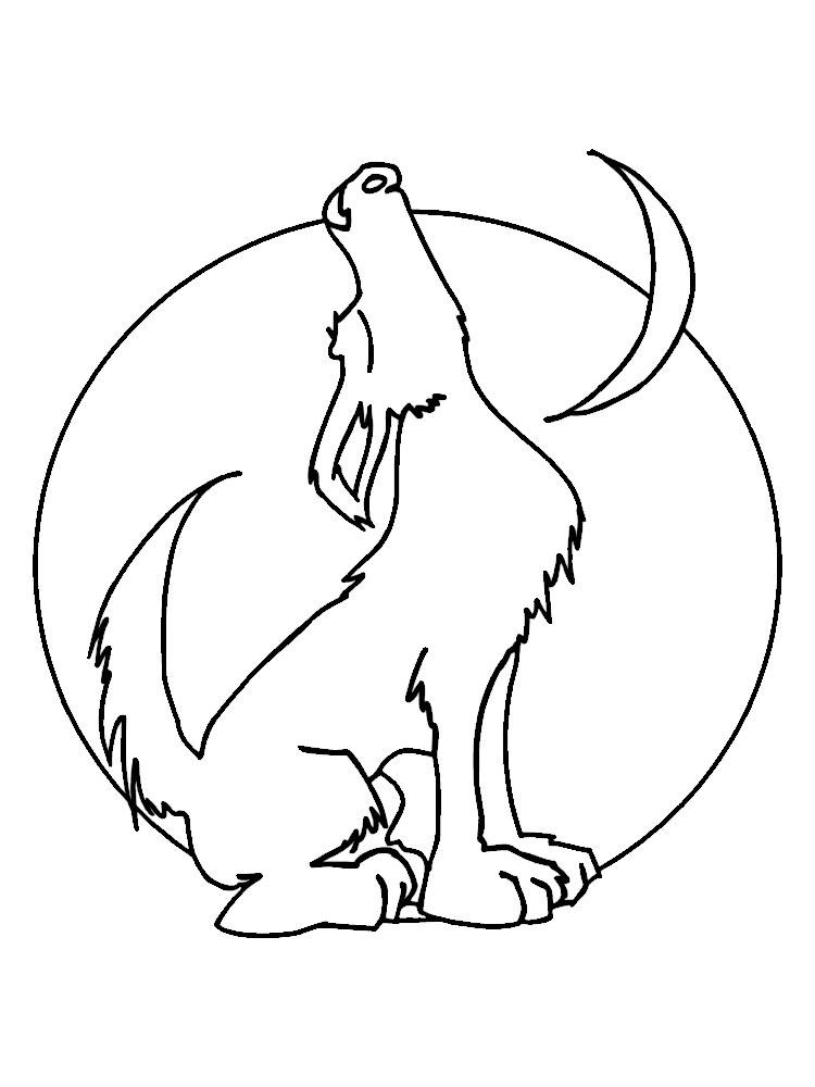 Imprimir gratis dibujos para colorear – lobos