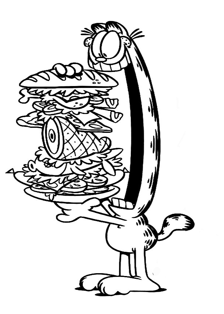 Dibujos Para Colorear Garfield Para Ni 241 Os