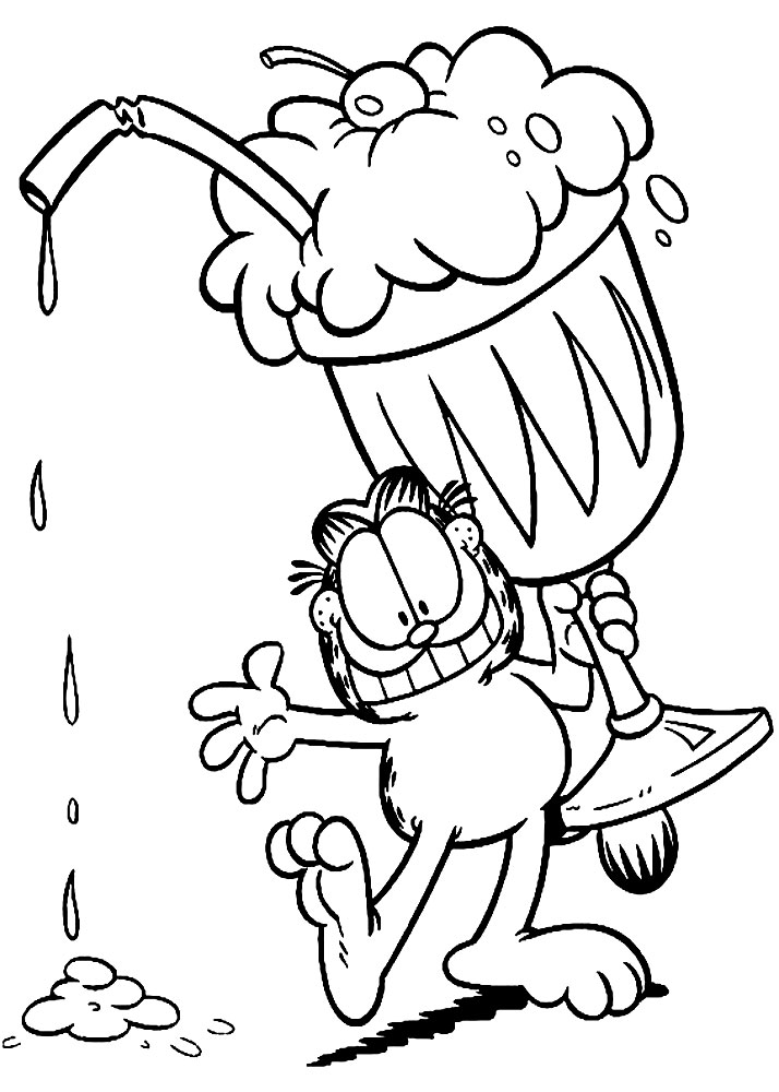 Imprimir dibujos para colorear – Garfield, para niños y niñas