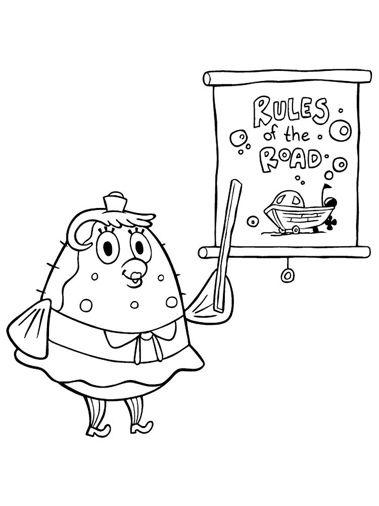 Dibujos Para Colorear Bob Esponja Para Niñas Y Niños