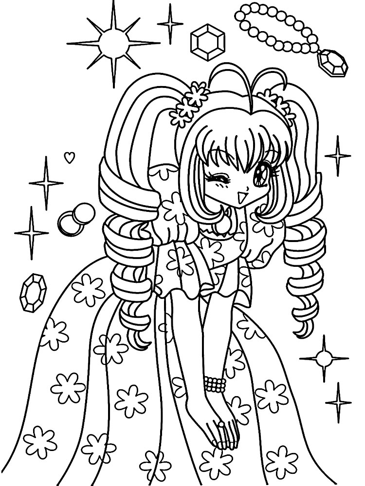 Dibujos Para Colorear Anime