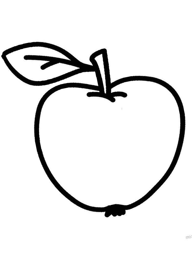 Dibujos para colorear – verduras y frutas, para niños