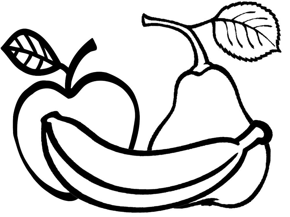 dibujo fruta colorear:
