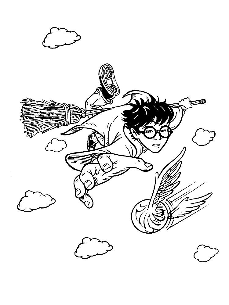 Descargue e imprima gratis dibujos para colorear – Harry Potter