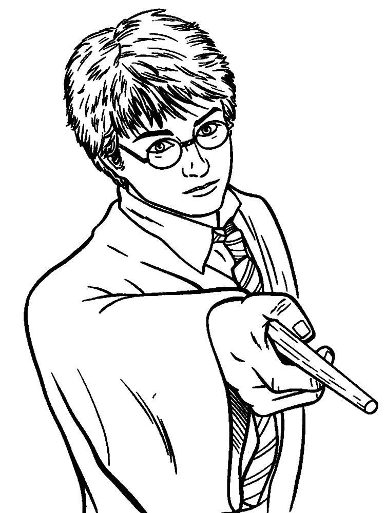 Dibujos Para Colorear Harry Potter Para Un Desarrollo Infantil
