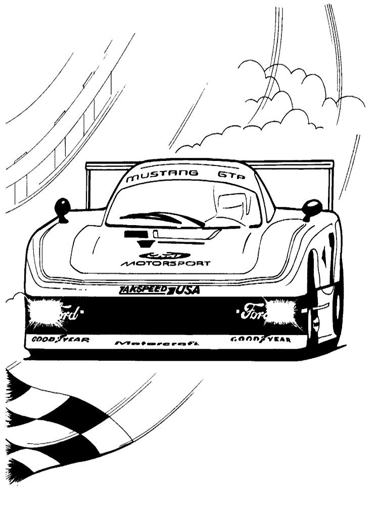 Descargar dibujos para colorear - coches de carreras.