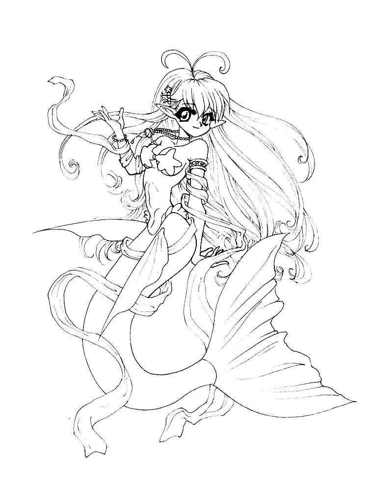 Dibujos para colorear  anime para nios