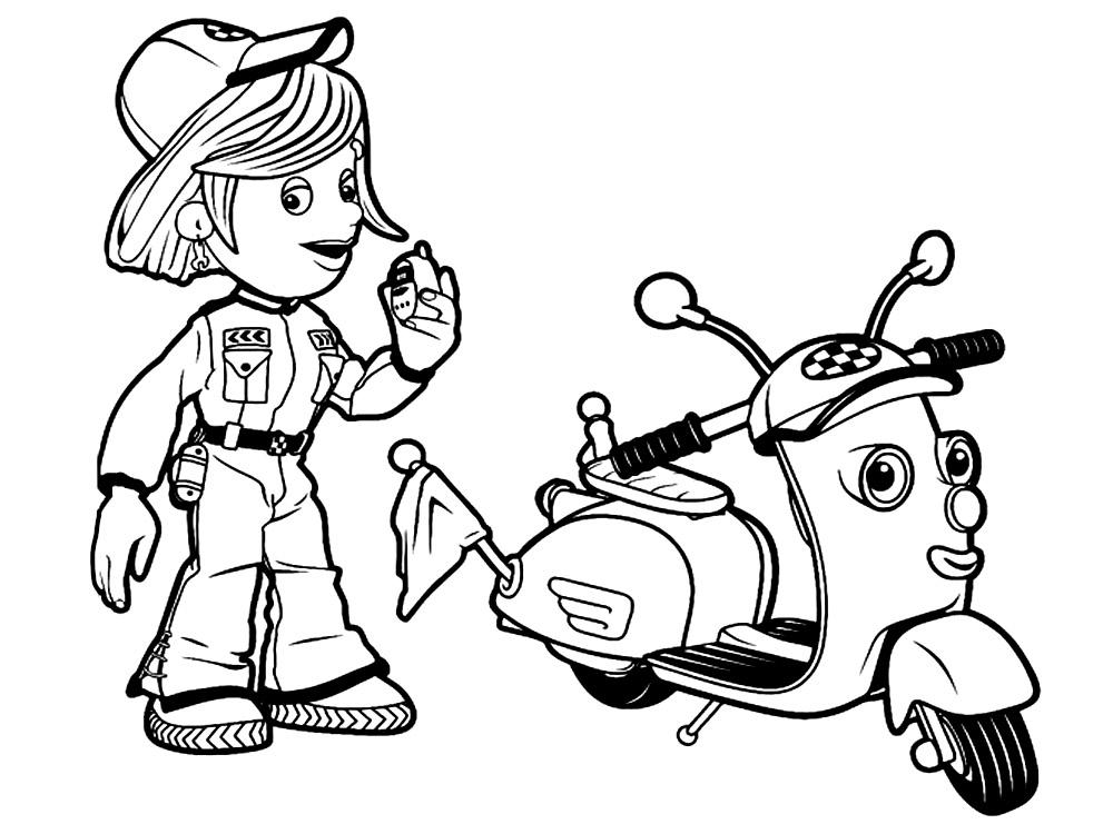 Útiles dibujos para colorear – Roary el carrito veloz, para ...