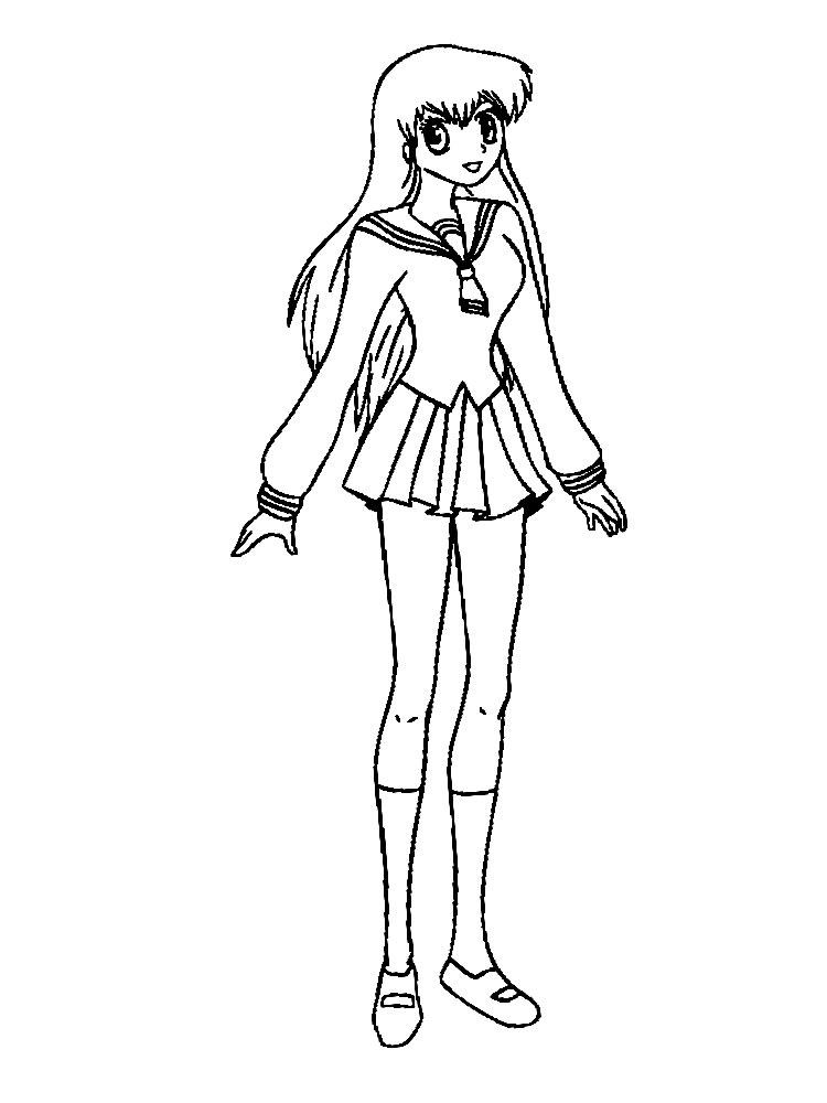 Algo til para nias y nios  dibujos para colorear  anime