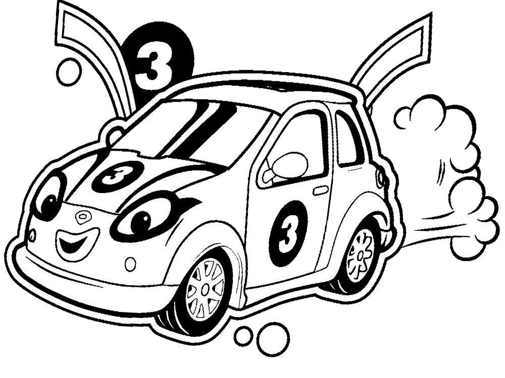 Dibujos para colorear – Roary el carrito veloz, para ...