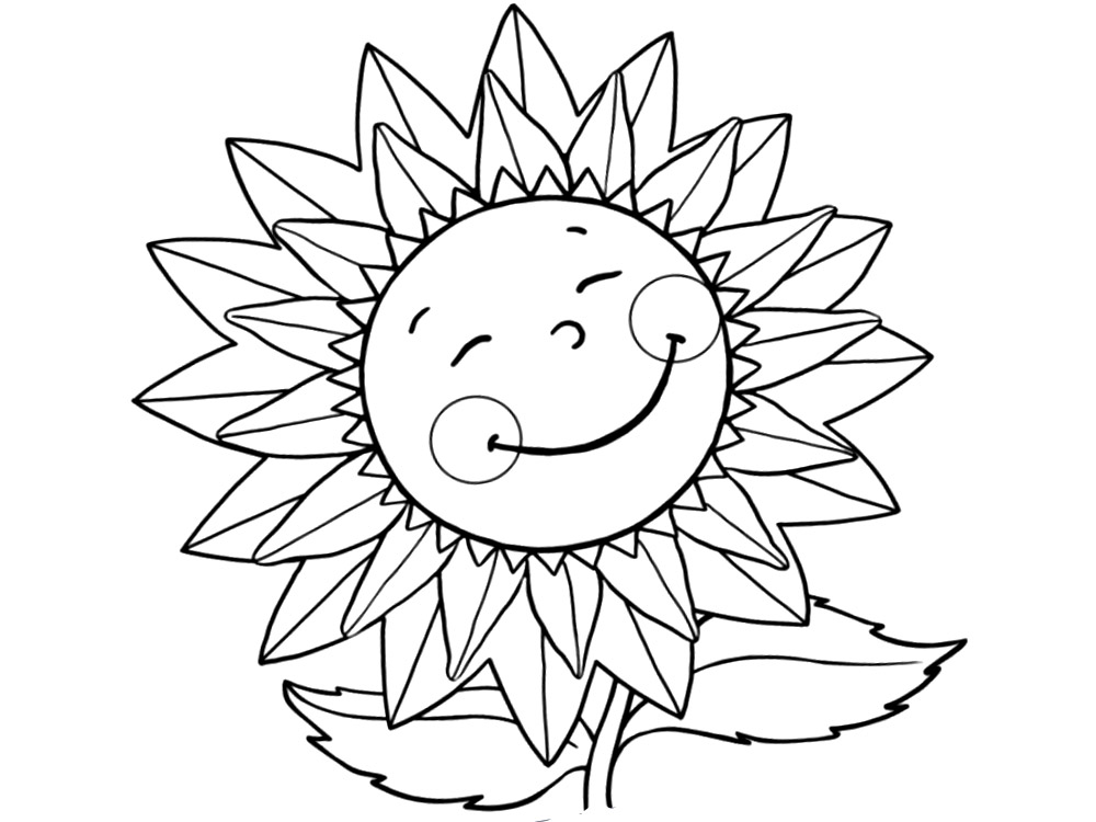 Flores – dibujos para colorear e imágenes.