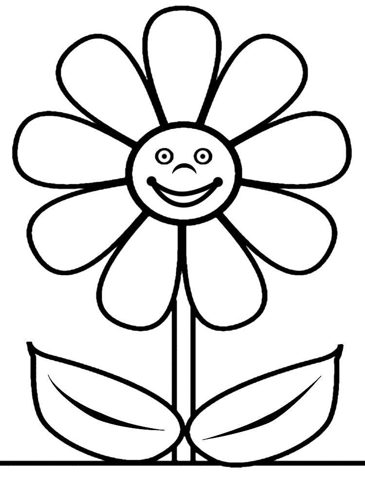 Descargar gratis dibujos para colorear – flores.
