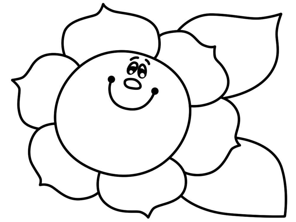 Imprimir imágenes dibujos para colorear – flores, para niños y niñas