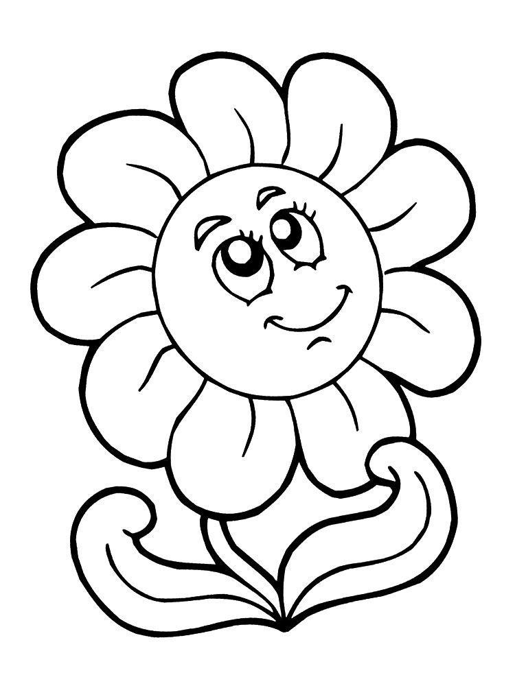 Dibujos infantiles para colorear  flores para desarrollar